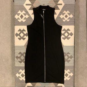 Express Black Zip Up Dress